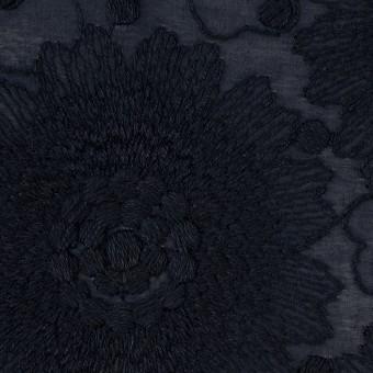 コットン×フラワー(ダークネイビー)×ローン刺繍_全3色