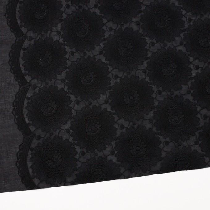 コットン×フラワー(ブラック)×ローン刺繍_全3色 イメージ2