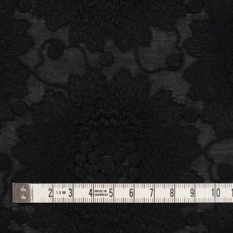 コットン×フラワー(ブラック)×ローン刺繍_全3色 サムネイル4