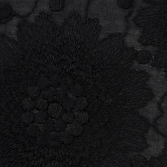 コットン×フラワー(ブラック)×ローン刺繍_全3色 サムネイル1