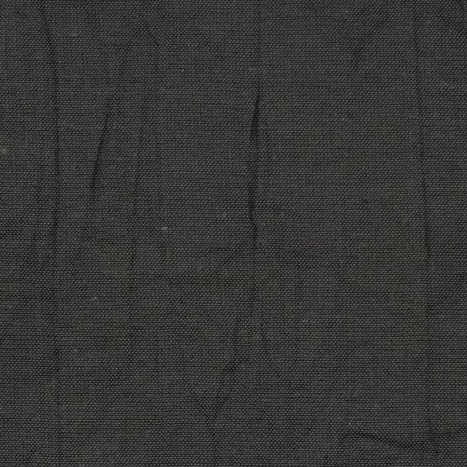 コットン&リネン×無地(チャコール)×ボイルワッシャー イメージ1