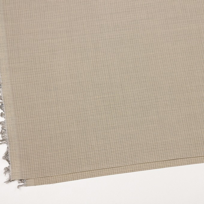 ウール×チェック(ビスケット)×ポプリン_全2色_イタリア製 イメージ2