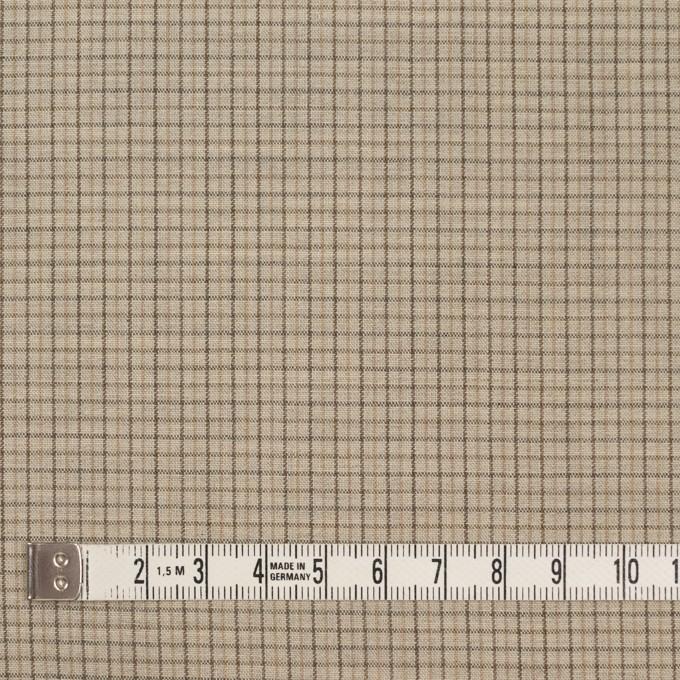 ウール×チェック(ビスケット)×ポプリン_全2色_イタリア製 イメージ4