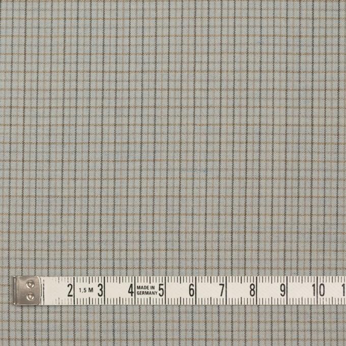 ウール×チェック(セラドングレー)×ポプリン_全2色_イタリア製 イメージ4