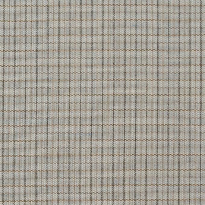ウール×チェック(セラドングレー)×ポプリン_全2色_イタリア製 イメージ1
