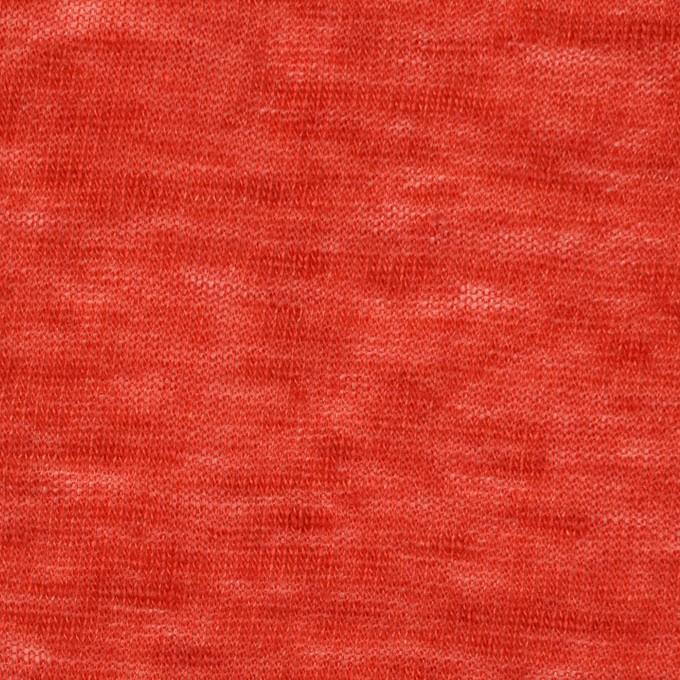 リネン×無地(パッションレッド)×天竺ニット_全2色 イメージ1
