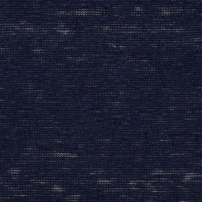 リネン×無地(ダークネイビー)×天竺ニット イメージ1