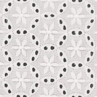 コットン×フラワー(オフホワイト)×ローン刺繍_全3色 サムネイル1