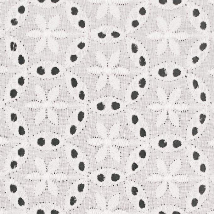 コットン×フラワー(オフホワイト)×ローン刺繍_全3色 イメージ1
