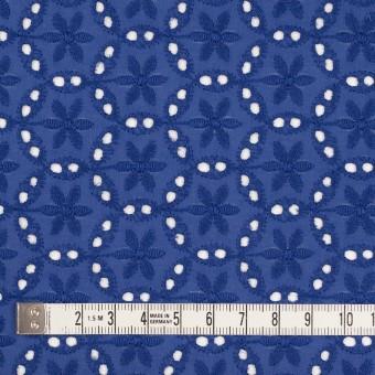 コットン×フラワー(マリンブルー)×ローン刺繍_全3色 サムネイル4