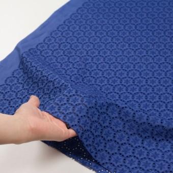 コットン×フラワー(マリンブルー)×ローン刺繍_全3色 サムネイル5