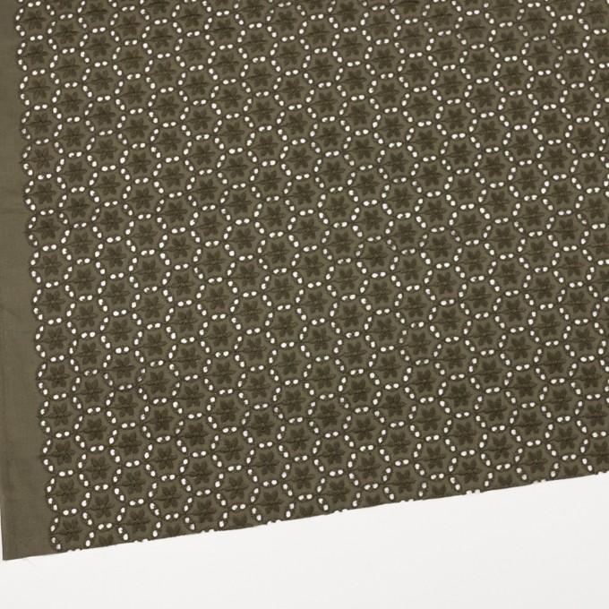 コットン×フラワー(カーキグリーン)×ローン刺繍_全3色 イメージ2