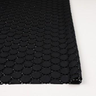 コットン×サークル(ブラック)×ローン刺繍 サムネイル3