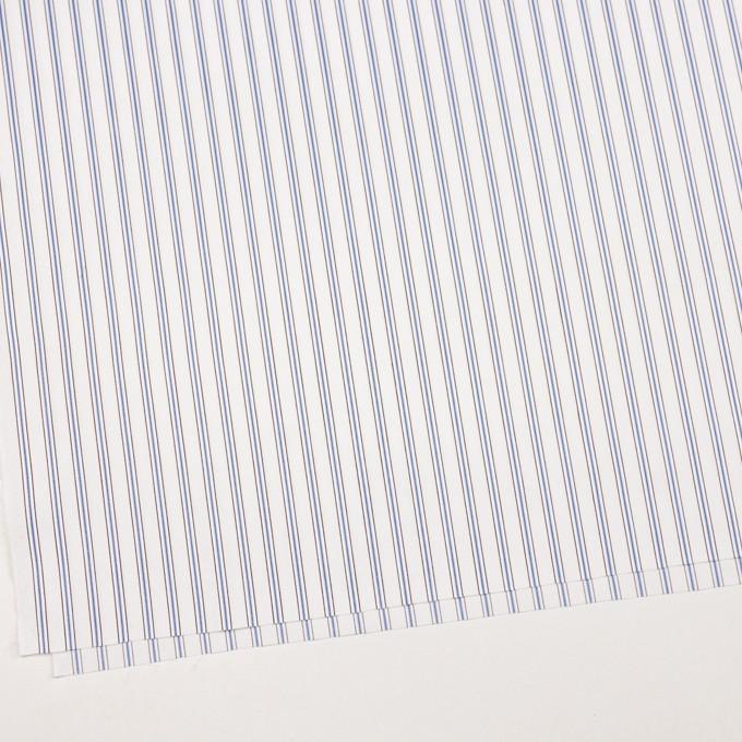 コットン×ストライプ(オフホワイト、サックス&ブラウン)×ドビーブロード イメージ2