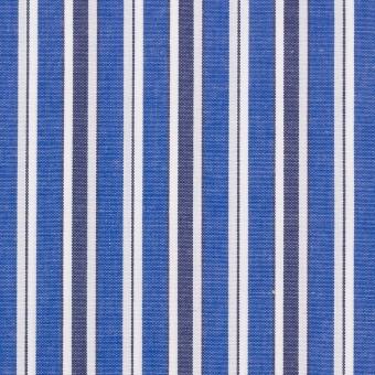 コットン×ストライプ(ブルー&ネイビー)×ブロード
