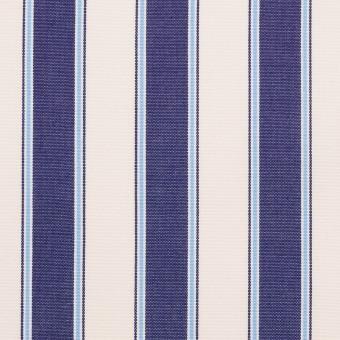 コットン×ストライプ(プルシアンブルー)×ブロード_全2色 サムネイル1