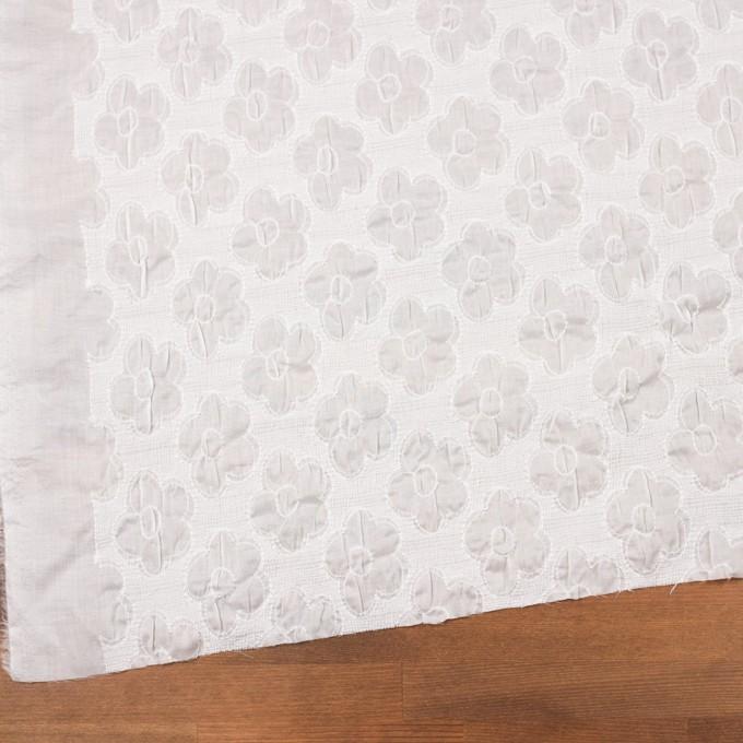 コットン×フラワー(オフホワイト)×ボイルシャーリング刺繍 イメージ2