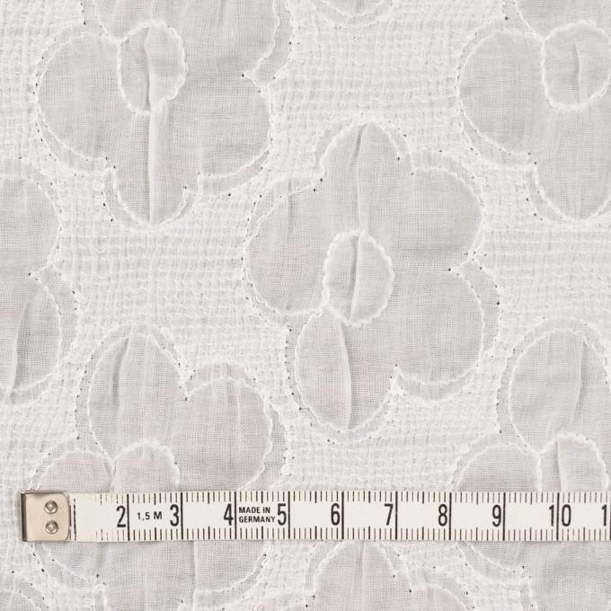コットン×フラワー(オフホワイト)×ボイルシャーリング刺繍 イメージ4