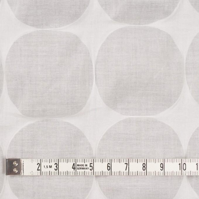 コットン×サークル(オフホワイト)×ローン_塩縮加工_全3色 イメージ4