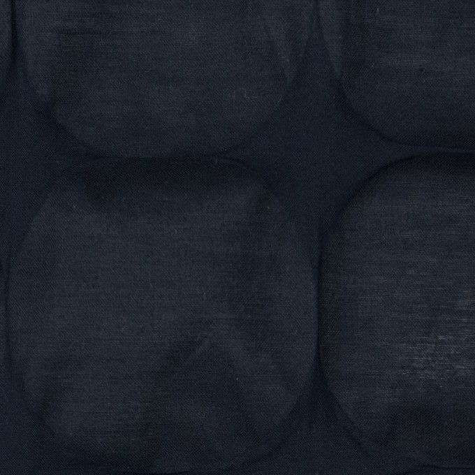 コットン×サークル(ダークネイビー)×ローン_塩縮加工_全3色 イメージ1