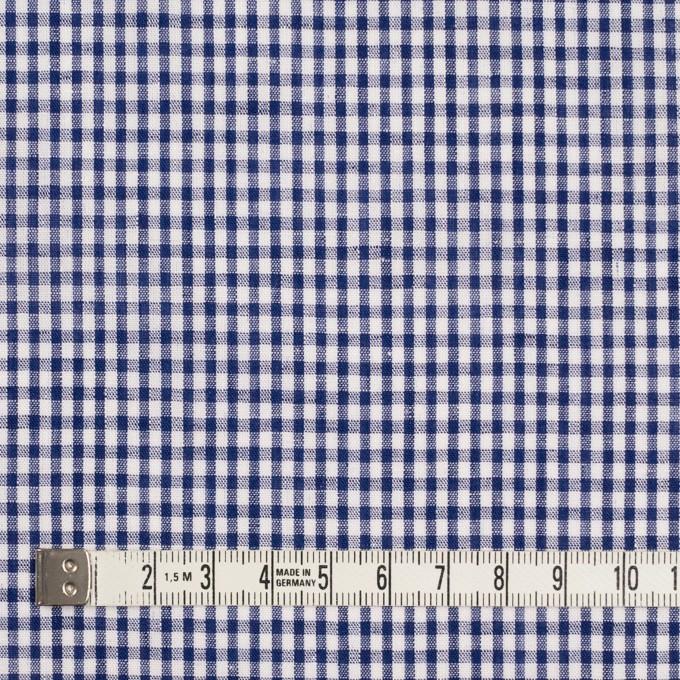 コットン&リネン×チェック(ネイビー)×ローン イメージ4