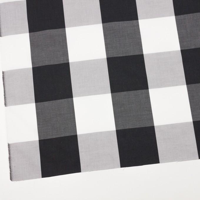 コットン×チェック(グレー&ブラック)×ブロード イメージ2