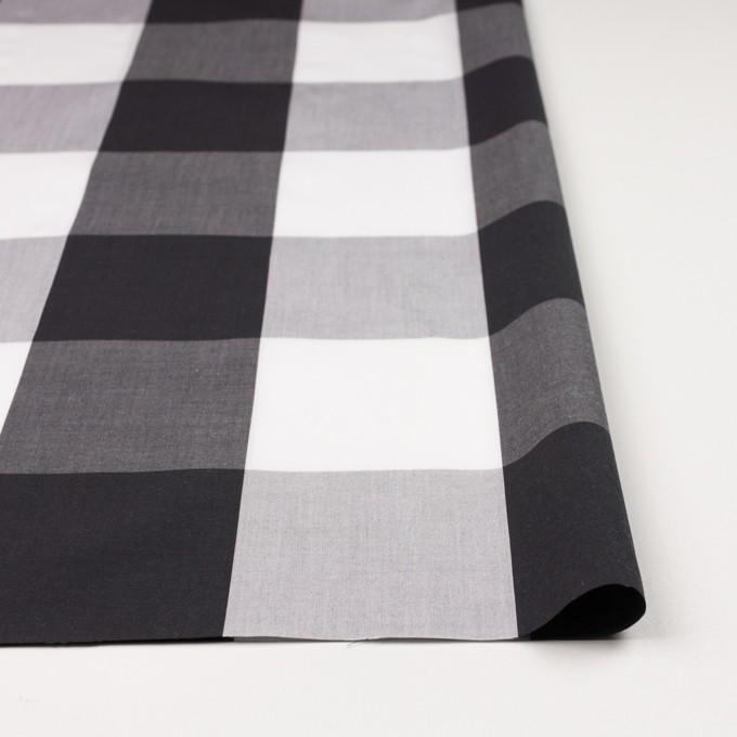 コットン×チェック(グレー&ブラック)×ブロード イメージ4
