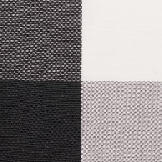 コットン×チェック(グレー&ブラック)×ブロード イメージ1