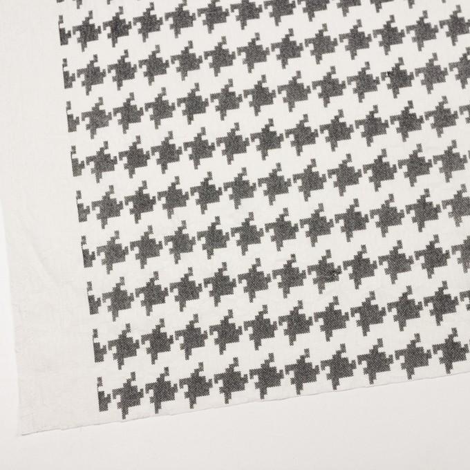コットン×千鳥格子(オフホワイト&ブラック)×チュール_全3色 イメージ2