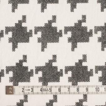 コットン×千鳥格子(オフホワイト&ブラック)×チュール_全3色 サムネイル4
