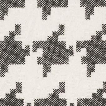 コットン×千鳥格子(オフホワイト&ブラック)×チュール_全3色 サムネイル1
