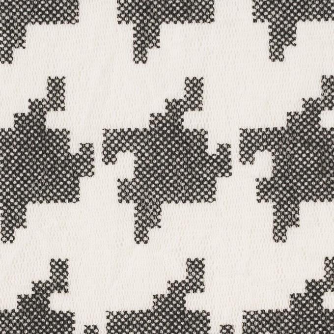コットン×千鳥格子(オフホワイト&ブラック)×チュール_全3色 イメージ1