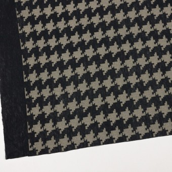 コットン×千鳥格子(ブラック&ライトカーキ)×チュール_全3色 サムネイル2