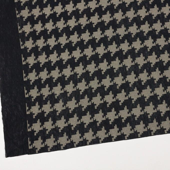 コットン×千鳥格子(ブラック&ライトカーキ)×チュール_全3色 イメージ2