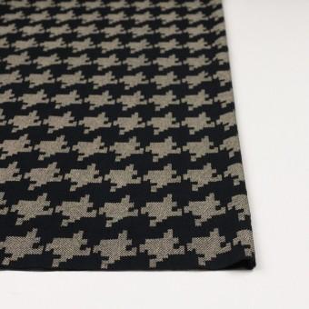 コットン×千鳥格子(ブラック&ライトカーキ)×チュール_全3色 サムネイル3