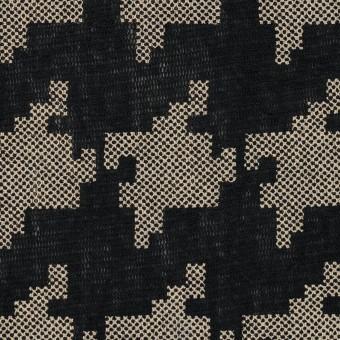 コットン×千鳥格子(ブラック&ライトカーキ)×チュール_全3色 サムネイル1