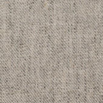 リネン×無地(ライトグレー)×サージ_全2色
