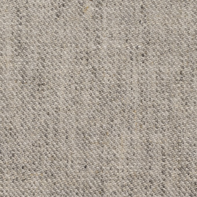 リネン×無地(ライトグレー)×サージ_全2色 イメージ1