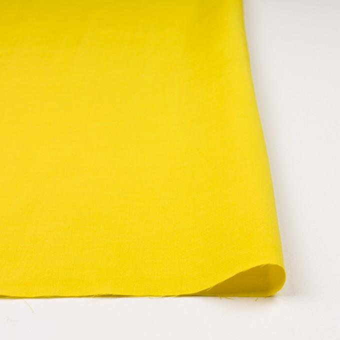 キュプラ&レーヨン×無地(レモンイエロー)×シャンタン_イタリア製 イメージ3