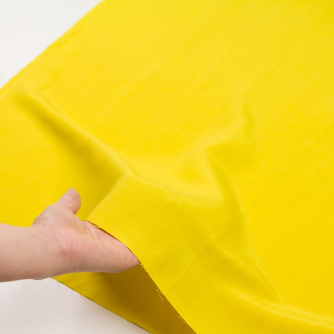 キュプラ&レーヨン×無地(レモンイエロー)×シャンタン_イタリア製 イメージ5