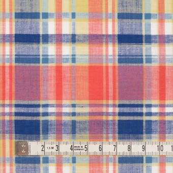 コットン×チェック(スカーレット、シトロン&ブルー)×薄シーチング サムネイル4