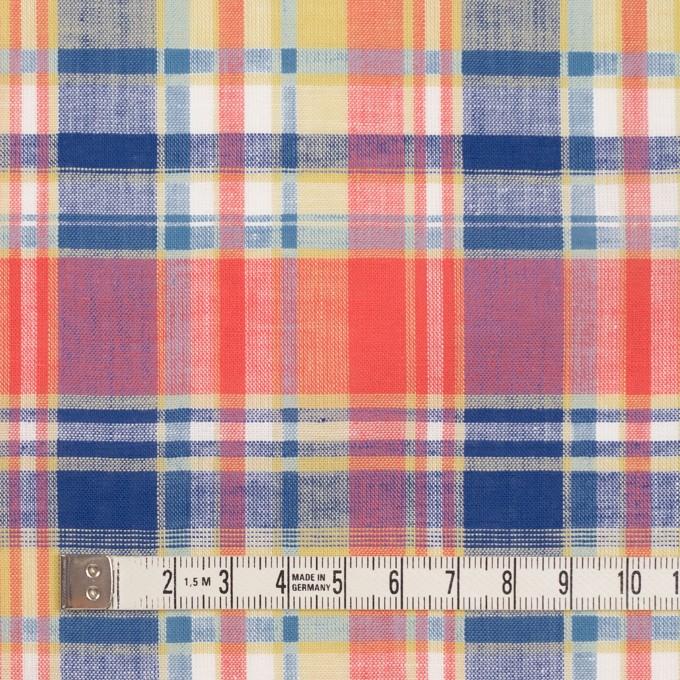 コットン×チェック(スカーレット、シトロン&ブルー)×薄シーチング イメージ4