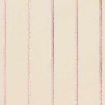 コットン×ストライプ(キナリ、レッド&ブラック)×ポプリン_イタリア製