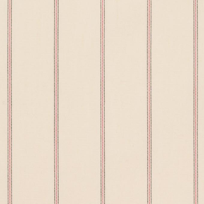 コットン×ストライプ(キナリ、レッド&ブラック)×ポプリン_イタリア製 イメージ1