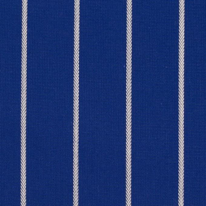 コットン×ストライプ(マリンブルー)×かわり織 イメージ1