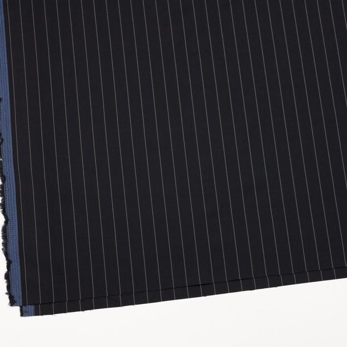ウール×ストライプ(ブラック)×ポプリン イメージ2
