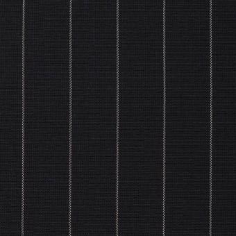 ウール×ストライプ(ブラック)×ポプリン サムネイル1