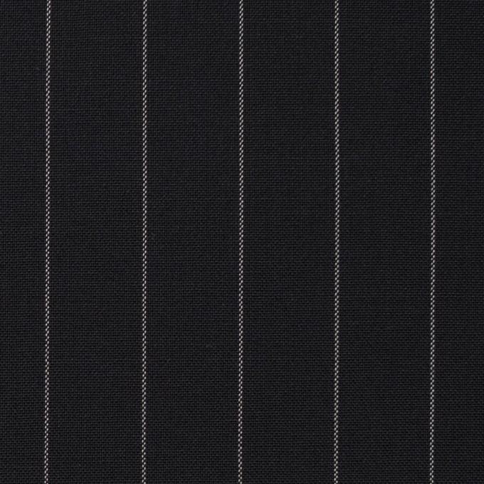 ウール×ストライプ(ブラック)×ポプリン イメージ1