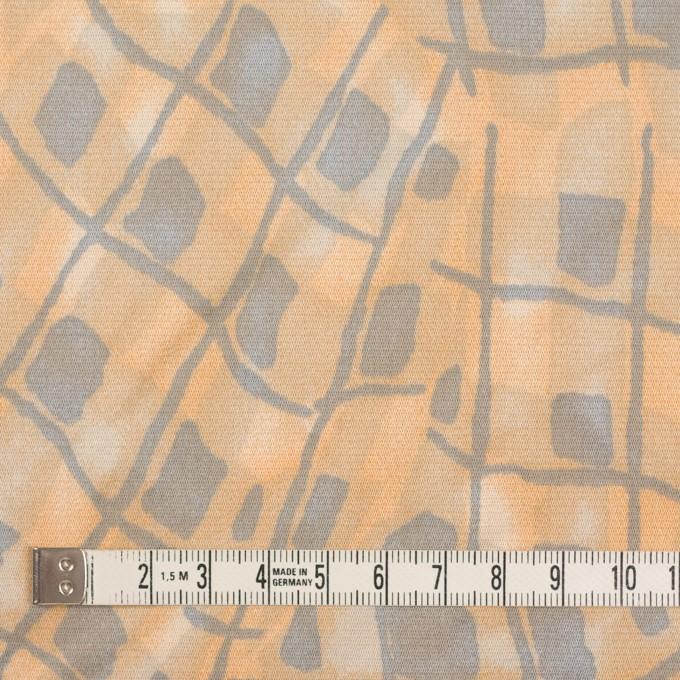コットン&キュプラ混×幾何学模様(ネープルス&グレー)×サテン_イタリア製 イメージ4