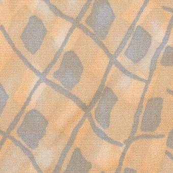 コットン&キュプラ混×幾何学模様(ネープルス&グレー)×サテン_イタリア製